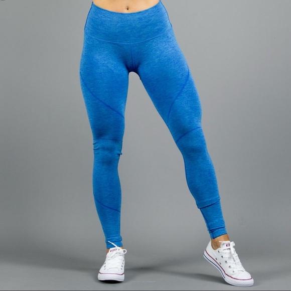 6065b5d06b64b8 Alphalete Pants | Nwt Revival Leggings V2atlantic Bluem | Poshmark